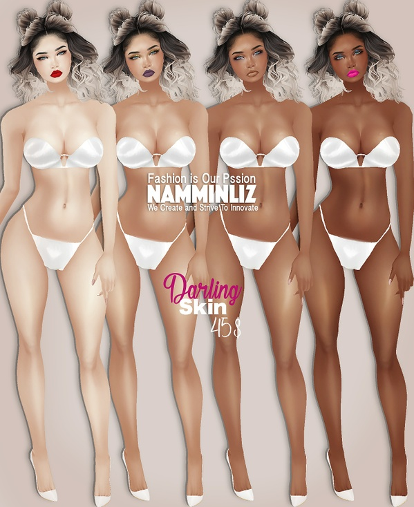 Darling 4 Skintones + 4 Makeup PNG