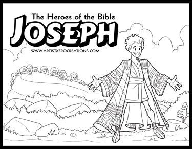 The Heroes of the Bible Coloring Pages: Joseph