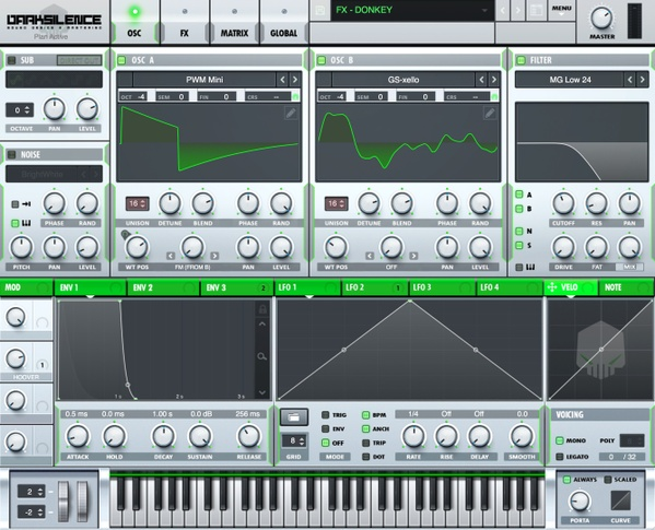 Dark Silence Sound Design ALPHA V1 GREEN XFER SERUM SKIN
