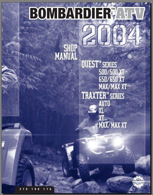 Bombardier 500/500XaT,650/650XT,MAX/MAX XT auto/xl,xt,max/max xt shop repair manual