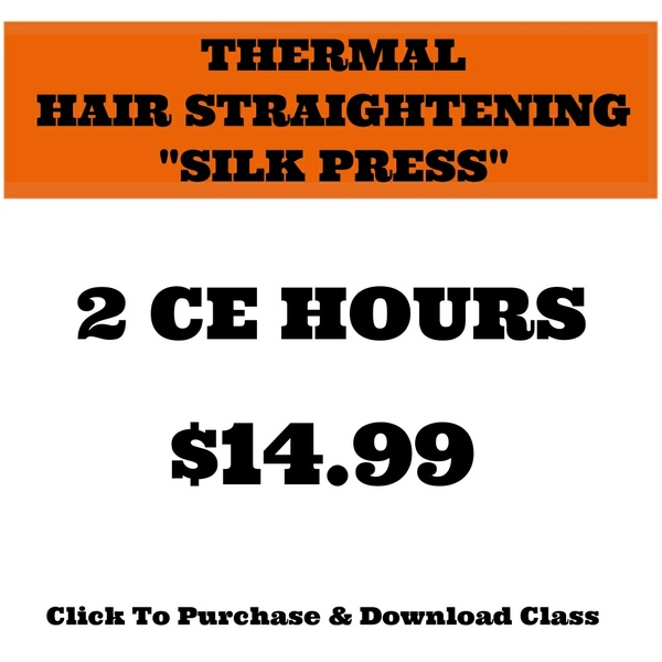 "THERMAL HAIR STRAIGHTENING ""SILK PRESS"""