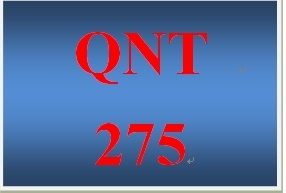 QNT 275 Week 4 Participation Using Time Series to Analyze Business Trends