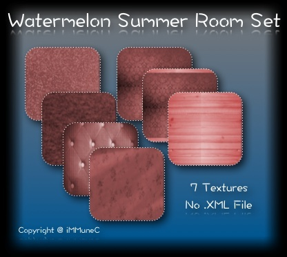 7 Watermelon Summer Room Textures With Resell Rights