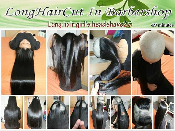 Long hair girl's headshave28