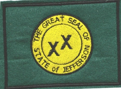 "Flag of Jefferson, 5"" wide PES"