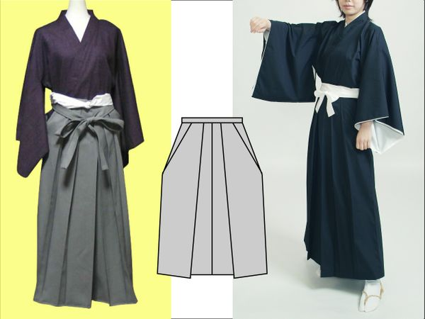 hakama. Japanese pants。(Paper pattern)