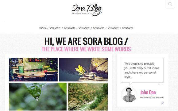 Sora Blog Blogger Template Premium Version