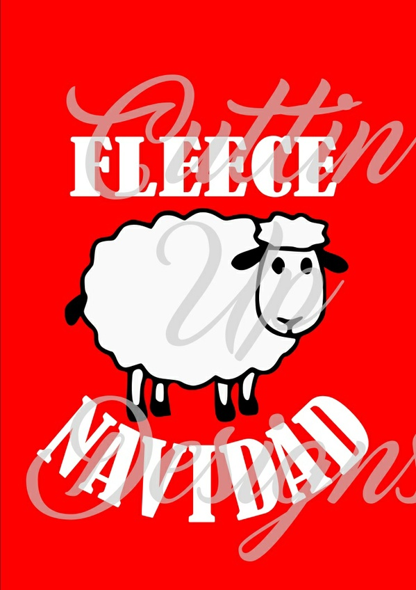 Fleece Navidad Sheep SVG Christmas Cutting file for cricut or cameo