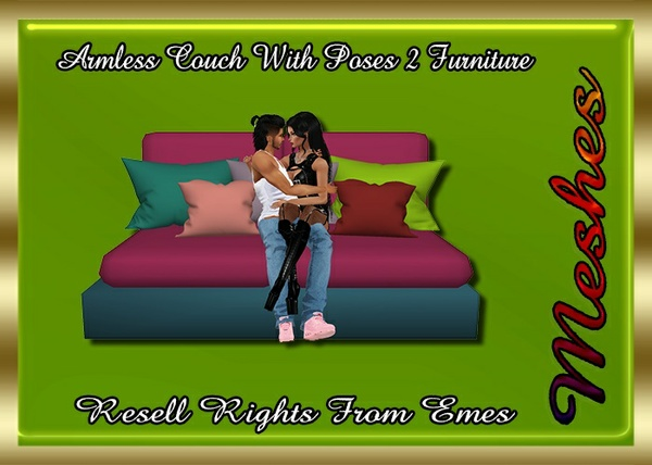 Armless Couch & Poses 2 Furniture Catty Only!!!