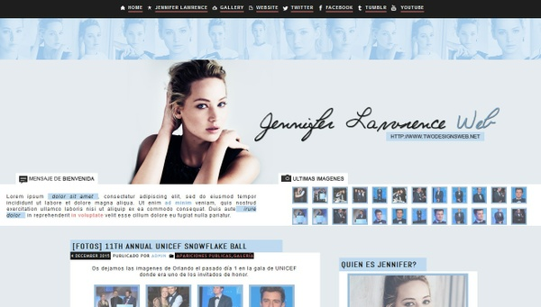 WP Premade 5 - feat Jennifer Lawrence