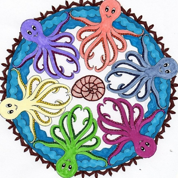 Under the Sea Mandalas Coloring Pack (7 pg. PDF)