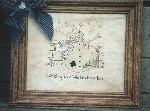 #121 Walking in a Winter Wonderland E Pattern
