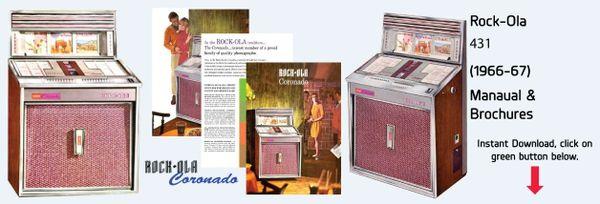 """Rock-Ola 431 """"Coronado"""" (1966-67)"""