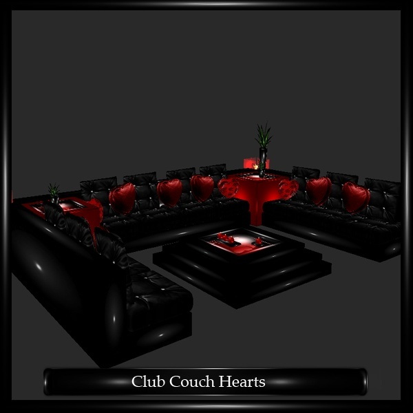 Club Couch Hearts Mesh