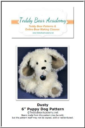 """Dusty - 6"""" Jointed Puppy Dog Pattern PDF"""