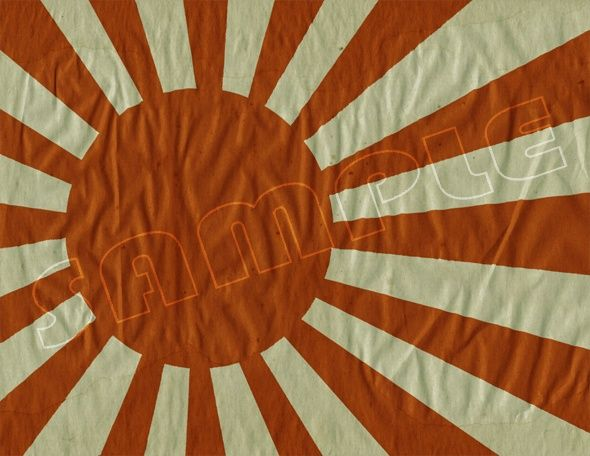 Japanese WWII Army and Navy Flag