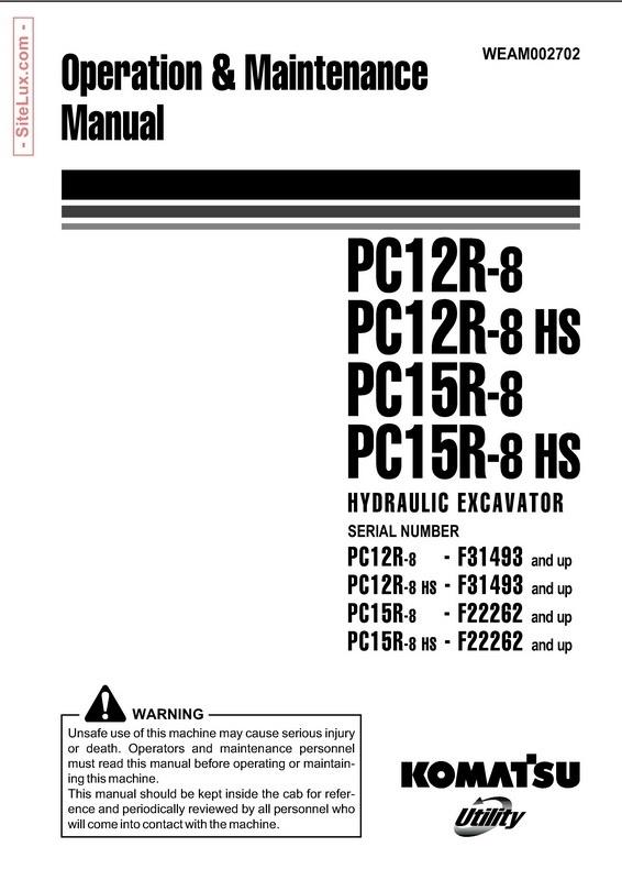 Komatsu PC12R-8(HS), PC15R-8(HS) Hydraulic Excavator OM Manual - WEAM002702