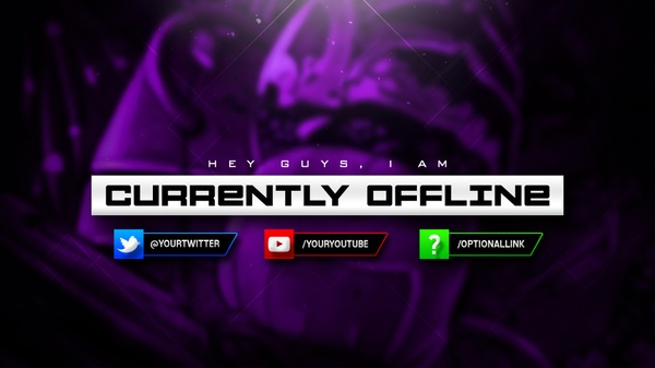 Fully Customizable OFFLINE SCREEN Template For Twitch/Streaming Websites