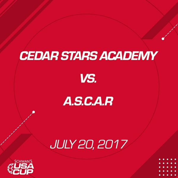 Boys U17 Gold - July 20, 2017 - Cedar Stars Academy vs A.S.C.A.R