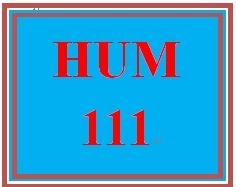 HUM 111 Week 8 Problem Solving