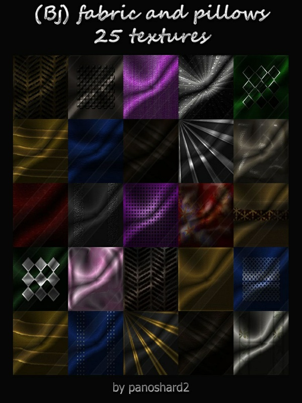 (Bj) fabric and pillows 25 textures. for imvu