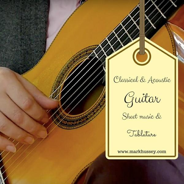 Hungarian dance no. 5  - guitar sheet music and tablature
