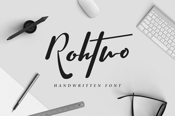 Rohtwo Bold Signature Font