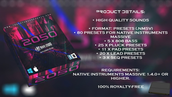 INIT WAVE STUDIO - 2050 EXPANSION PACK (ONLY FOR MASSIVE VST)