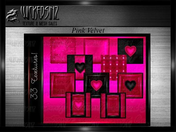 Valentine Pink Velvet - $7.50 - 33 Textures