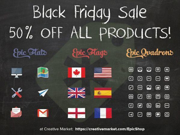 Free black friday icons