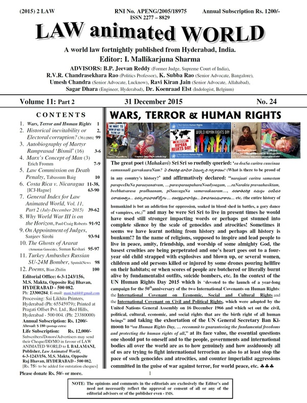 LAW ANIMATED WORLD, 31 December 2015 issue