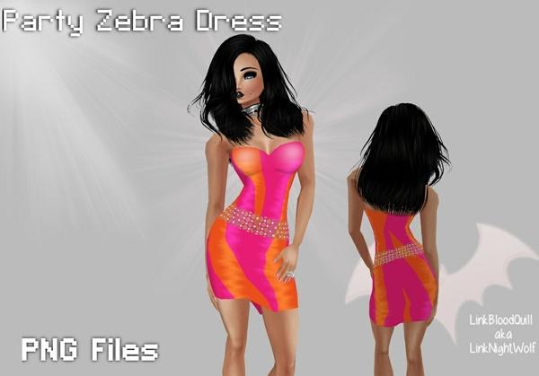 Party Zebra Dress