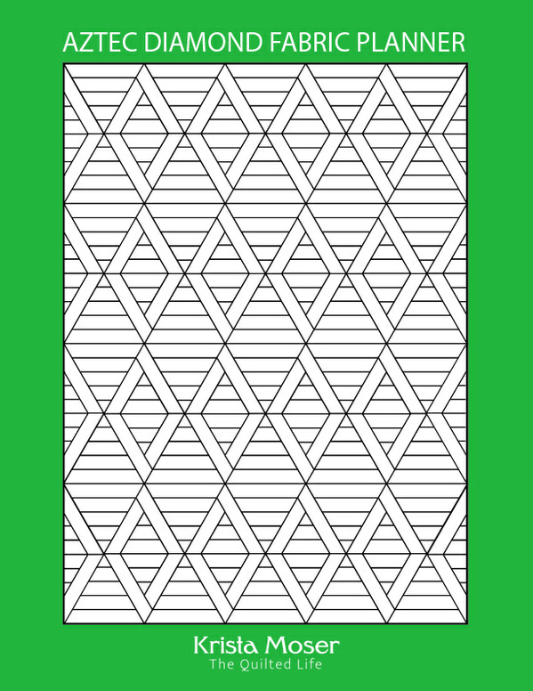 Aztec Diamond Fabric Planner