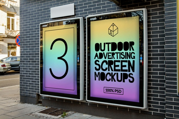Outdoor Advertising Screen Mock-Ups 3