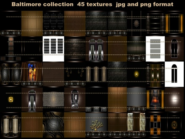 BALTIMORE   COLLECTION 45 TEXTURES ROOM