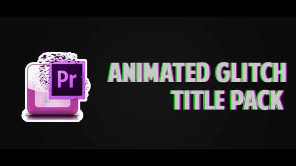 (BEST SELLER) Premiere Pro Animated Glitch Title Pack !