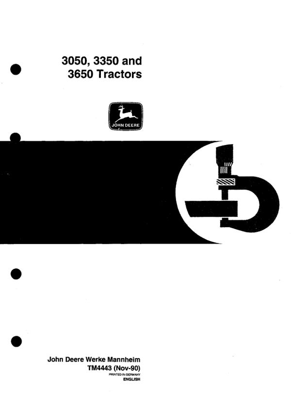 John Deere 3050 3350 3650 - technical manual - TM4443 - 786 pages - pdf - english