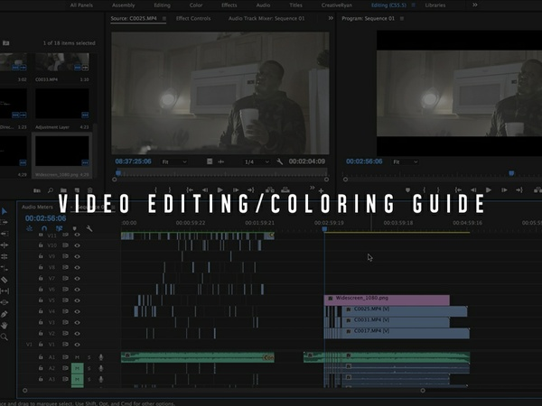CR Video Editing/Coloring Tutorial Guide