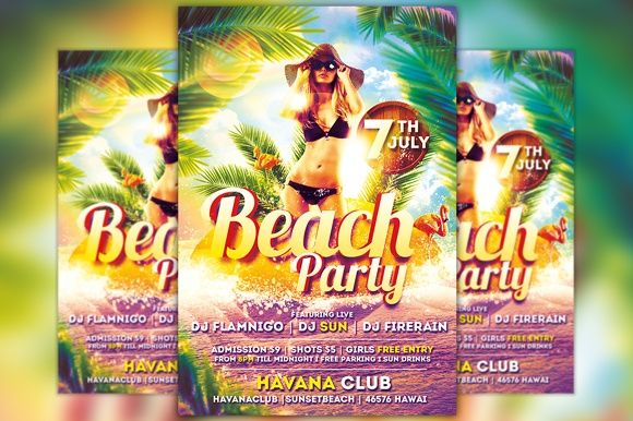 Beach Party Flyer Template Vol.2