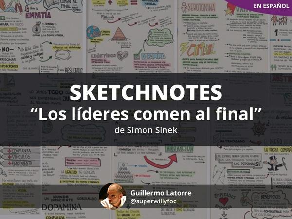 """Sketchnotes: """"Los líderes comen al final"""" (en español)"""