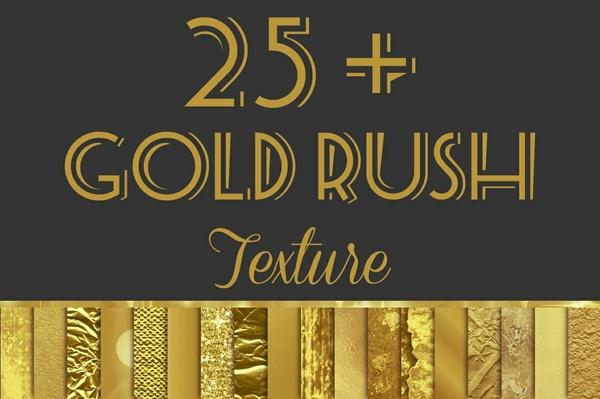 Gold Rush Digital Paper Pack