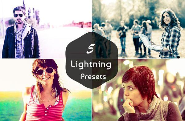5 LIGHTNING LIGHTROOM PRESETS