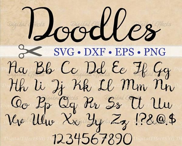 DOODLES SCRIPT FONT SVG