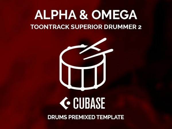 Superior Drummer 2 Alpha & Omega style / Cubase Project