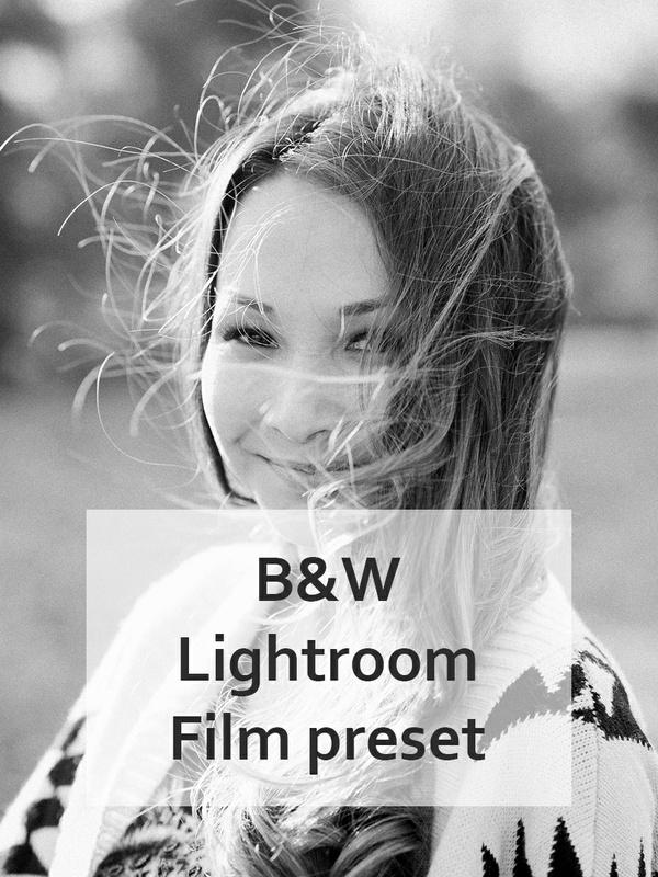 Black and White Lightroom Preset, B&W Lightroom Preset, Film BW presets