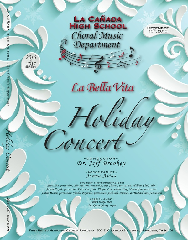 December 12, 2016 Holiday Concert