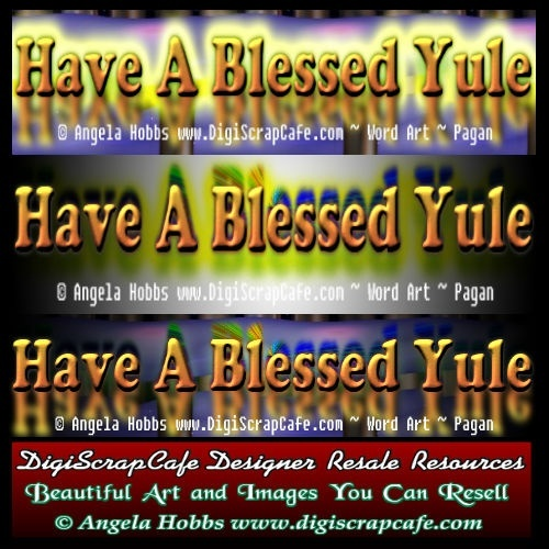 Have A Blessed Yule Pagan Word Art Template PSD Transparent Photoshop PNG Banner