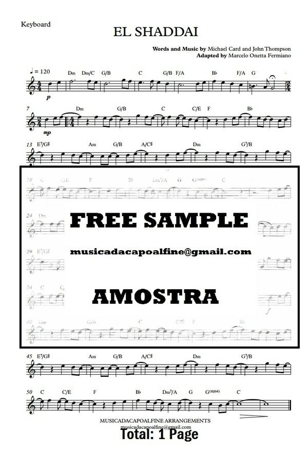 EL SHADDAI - Keyboard- Sheet Music - Parts.pdf
