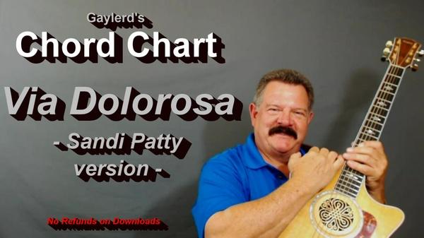 Via Dolorosa - Chord Chart