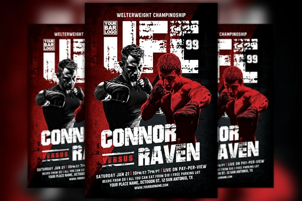 Warriors Night MMA Sport Flyer Template